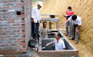 xây dựng bể phốt 2 ngăn
