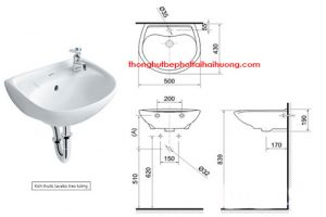 Tiêu chuẩn kích thước lavabod để lắp đặt chậu rửa tại nhà