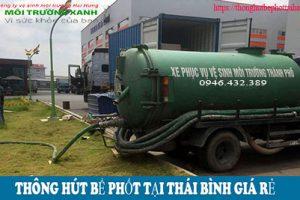 Dịch vụ hút bể phốt tại Thái Bình của Hải Hưng – Nói đúng làm thật