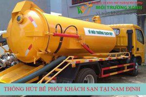 Thi công hút bể phốt khách sạn tại Nam Định giá rẻ sạch tới 99%